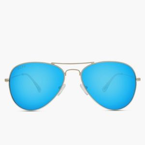 Diff eyewear blue aviator sunglasses